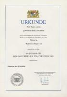 Meisterpreis Bayrische Staatsregierung