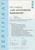 Zertifikat - Luft- und winddichte Gebäudehülle