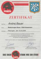 Zertifikat - PREFA-Fachseminar