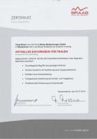 Zertifikat - Aktuelles Dachwissen für Frauen