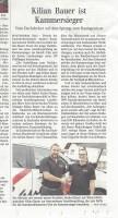 Zeitungsartikel Kilian Bauer Kammersieger